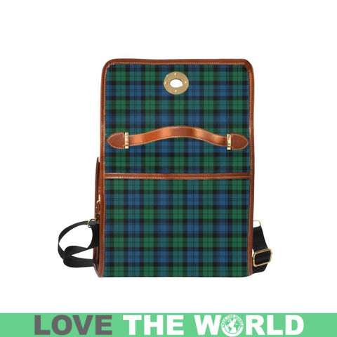 Blackwatch Ancient Tartan Canvas Bag | Waterproof Bag | Scottish Bag