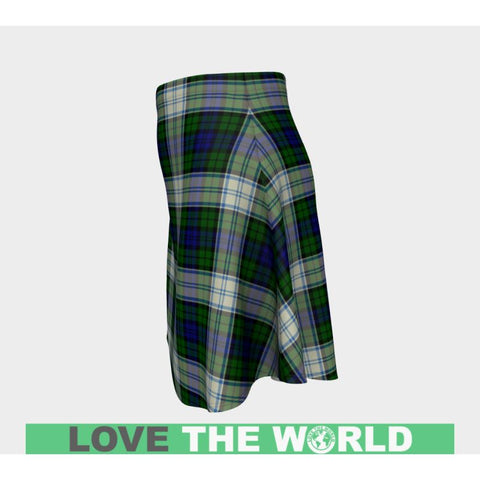 Tartan Skirt - Blackwatch Dress Modern Women Flared Skirt A9 |Clothing| 1sttheworld
