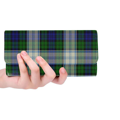 Blackwatch Dress Modern Tartan Trifold Wallet V4 One Size / Blackwatch Dress Modern Black Womens