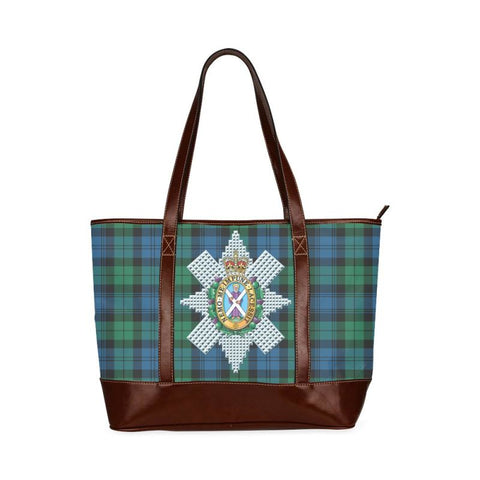 Blackwatch Tartan Clan Badge Tote Handbag Hj4 Handbags