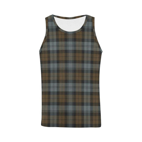 Image of Blackwatch Weathered Tartan All Over Print Tank Top Nl25 Xs / Men Tops