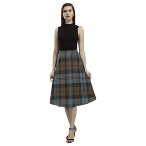 Blackwatch Weathered Tartan Aoede Crepe Skirt S12 Skirts