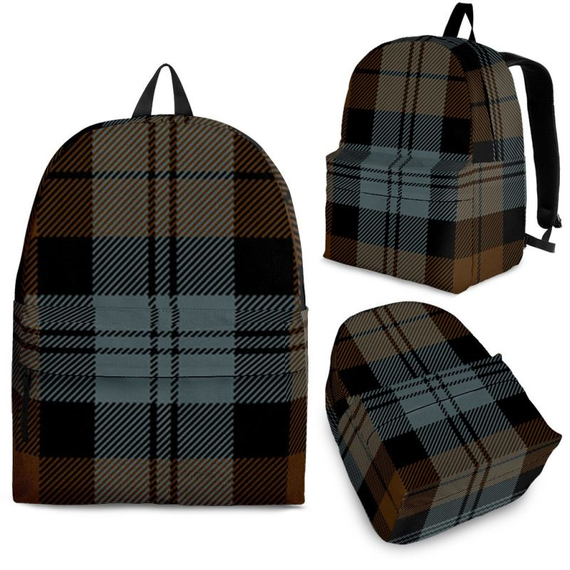 Blackwatch Weathered Tartan Backpack Backpacks