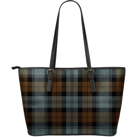 Blackwatch Weathered Tartan Handbag - Large Leather Tartan Bag Th8 |Bags| Love The World
