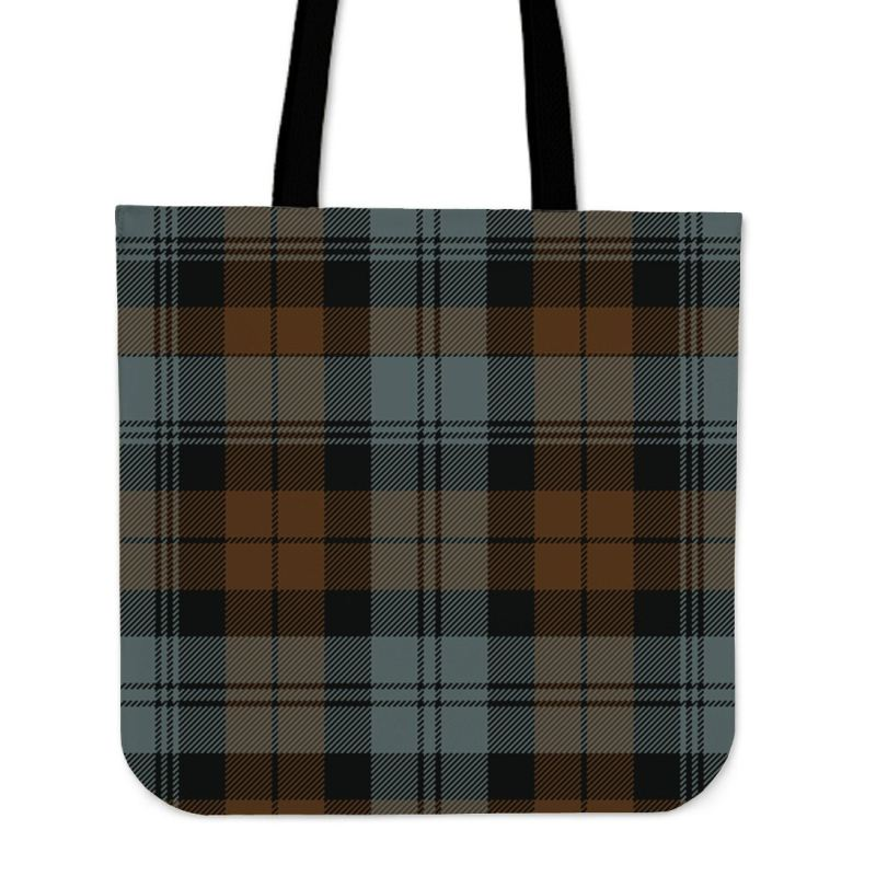 Blackwatch Weathered Tartan Tote Bags