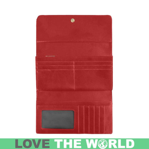 Blackwatch Weathered Tartan Trifold Wallet V4 One Size / Blackwatch Weathered Red Womens Trifold