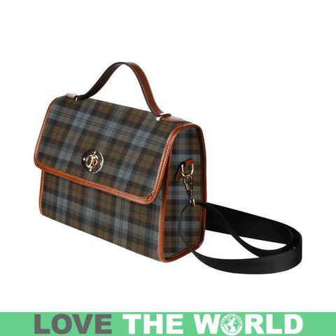 Image of Blackwatch Weathered Tartan Canvas Bag | Waterproof Bag | Scottish Bag