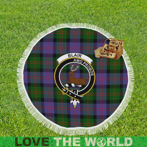 Blair Modern Clan Badge Tartan Circular Shawl C11 Shawls