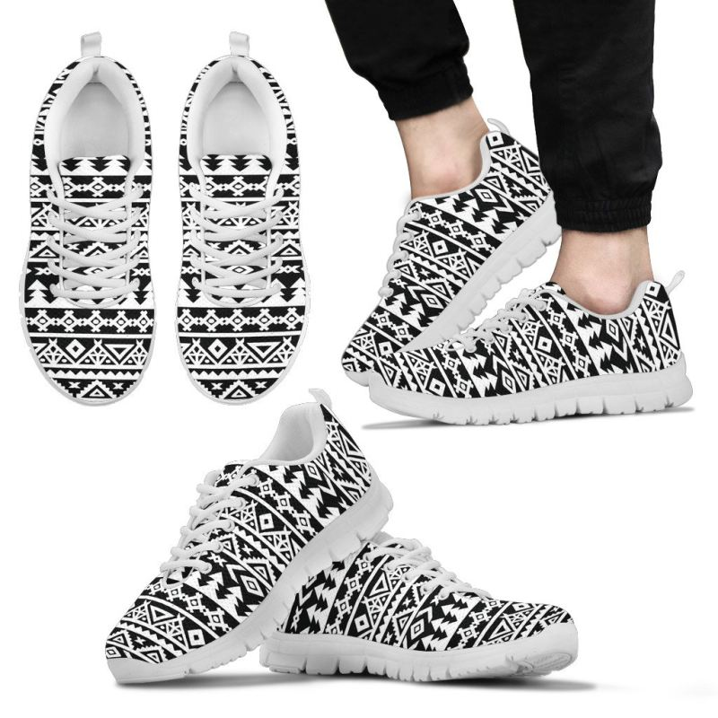 Bohemian Black And White Sneaker Mens Sneakers - White / Us5 (Eu38) Sneakers