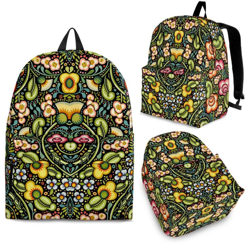 Bohemian Floral Backpack Backpacks
