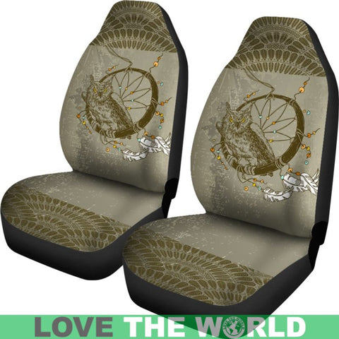 Boho - Owl And Dreamcatcher Car Seat Covers C1
