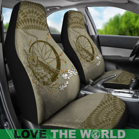 Image of Boho - Owl And Dreamcatcher Car Seat Covers C1