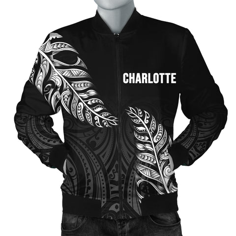 1stTheWorld Custom Aotearoa New Zealand - Maori Silver Fern Bomber Jacket Men Black A10
