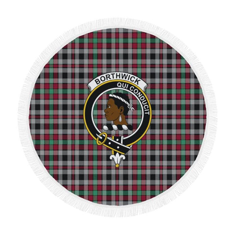 Borthwick Ancient Clan Badge Tartan Circular Shawl C11 Shawls