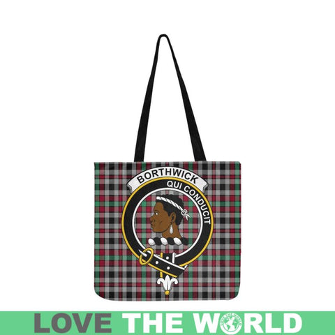 Borthwick Ancient Clan Badge Tartan Reusable Shopping Bag - Hb1 Bags