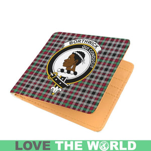 BORTHWICK CLAN TARTAN MEN WALLET A3