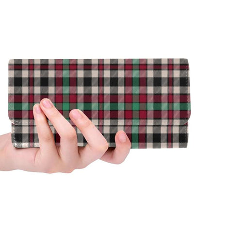 Borthwick Dress Ancient Tartan Trifold Wallet V4 One Size / Borthwick Dress Ancient Black Womens