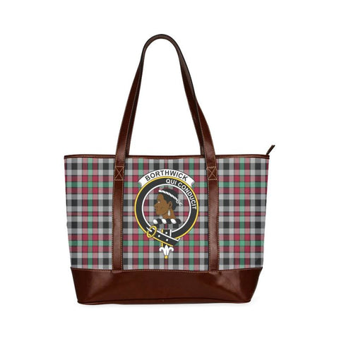 Borthwick Tartan Clan Badge Tote Handbag Hj4 Handbags