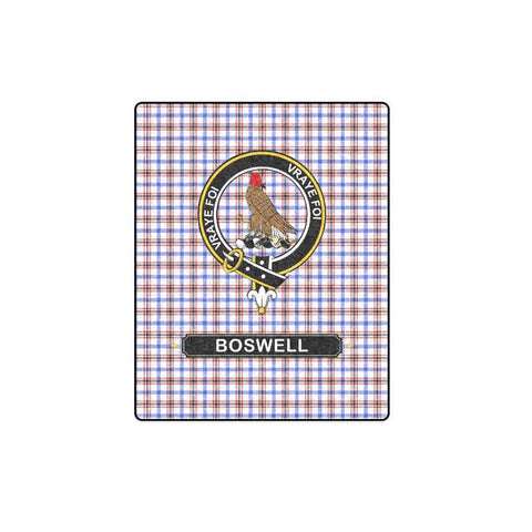 Image of Boswell Tartan Blanket | Clan Crest | Shop Home Decor