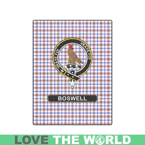 Image of Boswell Clan Tartan Blanket Dn1 One Size / 40X50 Blankets
