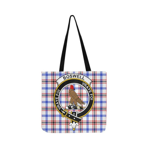 Image of Boswell Modern Clan Badge Tartan Reusable Shopping Bag - Hb1 Bags