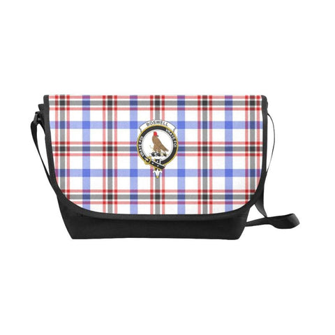 Image of Boswell Modern Tartan Clan Badge Messenger Bag - Sd1 Bags
