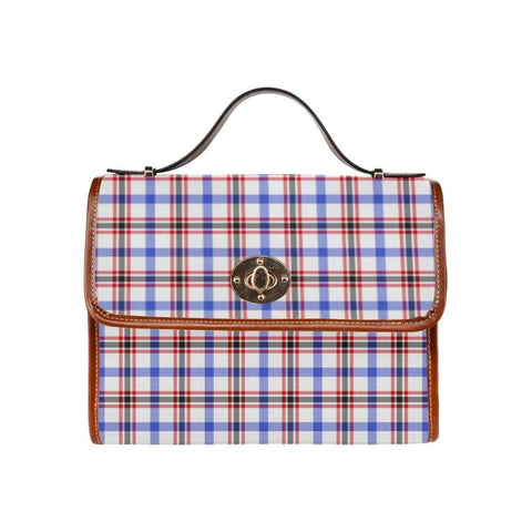 Image of Boswell Modern Tartan Canvas Bag | Waterproof Bag | Scottish Bag