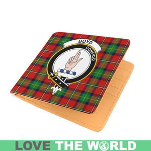 BOYD CLAN TARTAN MEN WALLET A3