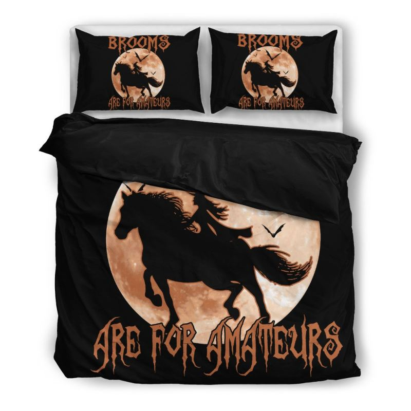 Brooms Are For Amateurs Bedding Sets 8 Bedding Set - Black / Twin