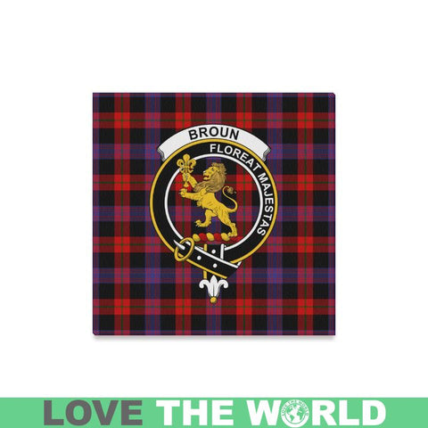 Image of Tartan Canvas Print - Broun Clan | Over 300 Scottish Clans and 500 Tartans