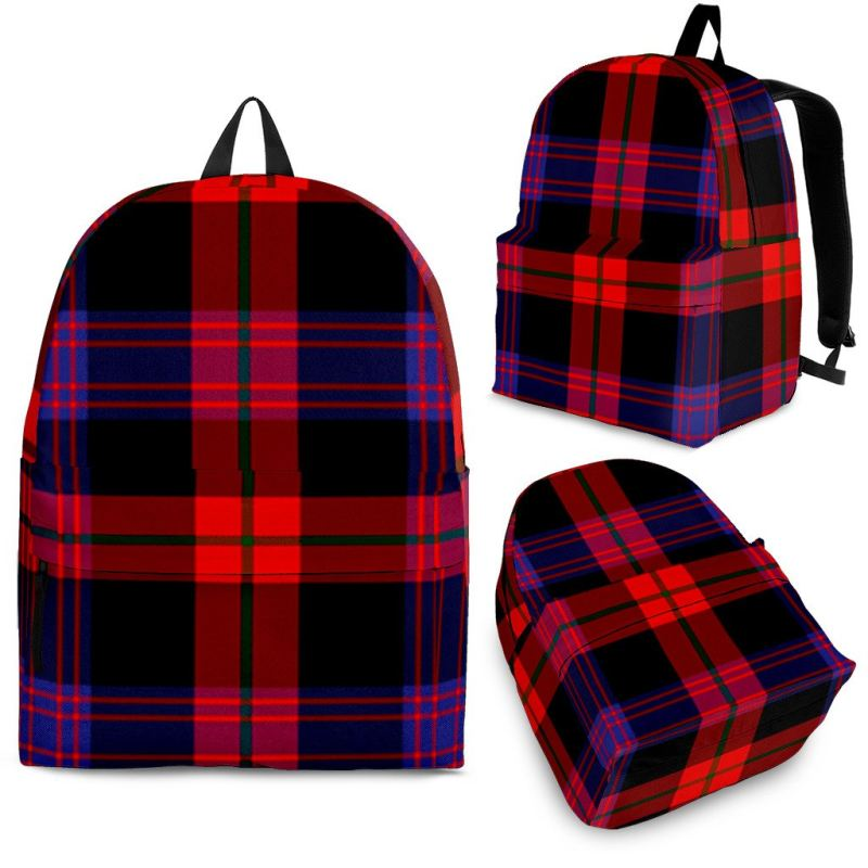 Brown Modern Tartan Backpack Backpacks