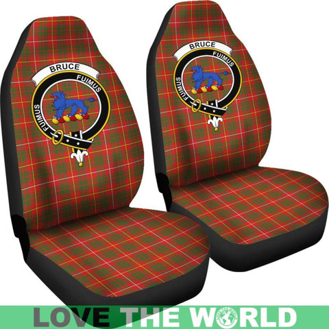 Image of Bruce Clan Badge Tartan Car Seat Cover Ha5
