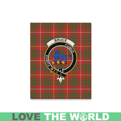 Tartan Canvas Print - Bruce Clan | Over 300 Scottish Clans and 500 Tartans