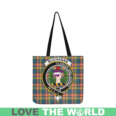 Image of Buchanan Ancient Clan Badge Tartan Reusable Shopping Bag - Hb1 Bags