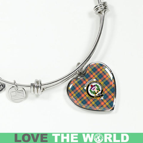 Image of Buchanan Ancient Tartan Silver Bangles - Sd1 Luxury Bangle (Silver) Jewelries
