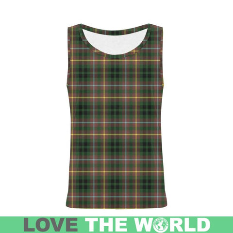 Buchanan Hunting Tartan All Over Print Tank Top Nl25 Xs / Men Tops