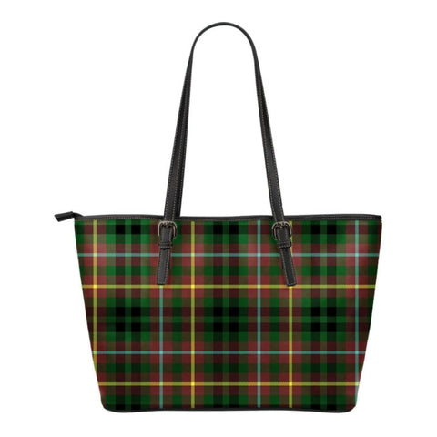Buchanan Hunting  Tartan Handbag - Tartan Small Leather Tote Bag Nn5 |Bags| Love The World