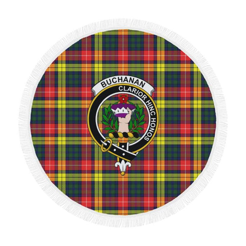 Image of Buchanan Modern Clan Badge Tartan Circular Shawl C11 Shawls