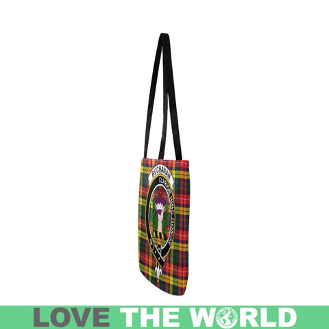 Buchanan Modern Clan Badge Tartan Reusable Shopping Bag - Hb1 Bags