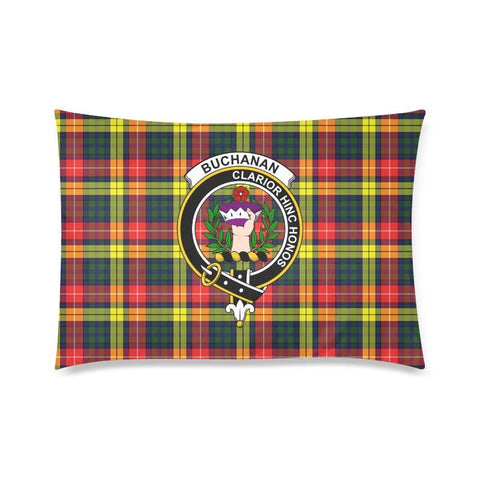 Buchanan Modern Tartan Clan Badge Rectangle Pillow Hj4 One Size / Buchanan Modern Custom Zippered
