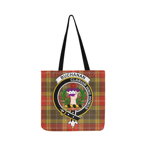Buchanan Old Set Weathered Clan Badge Tartan Reusable Shopping Bag - Hb1 Bags