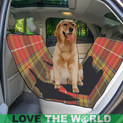 Image of Buchanan Old Set Weathered Scottie Tartan Pet Car Seat Dt8 Seats