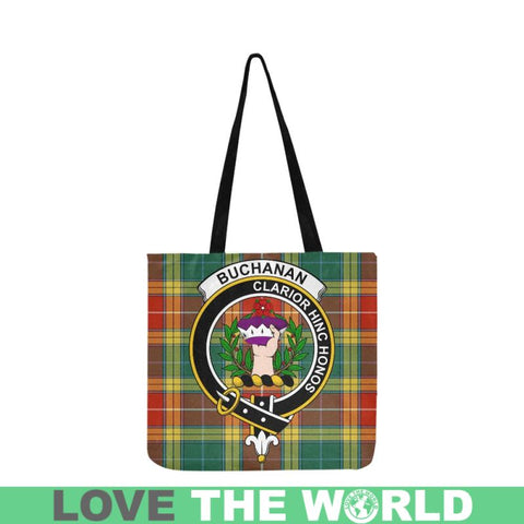 Buchanan Old Sett Clan Badge Tartan Reusable Shopping Bag - Hb1 Bags