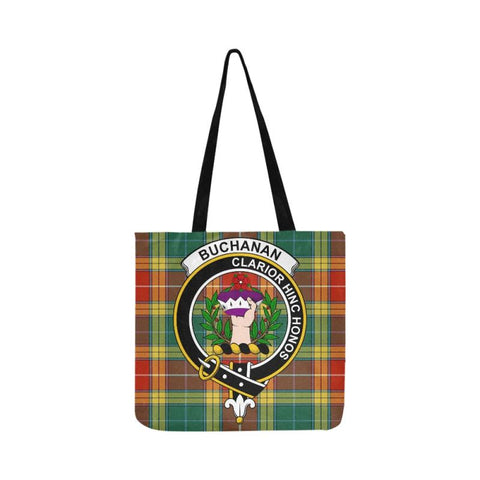 Image of Buchanan Old Sett Clan Badge Tartan Reusable Shopping Bag - Hb1 Bags