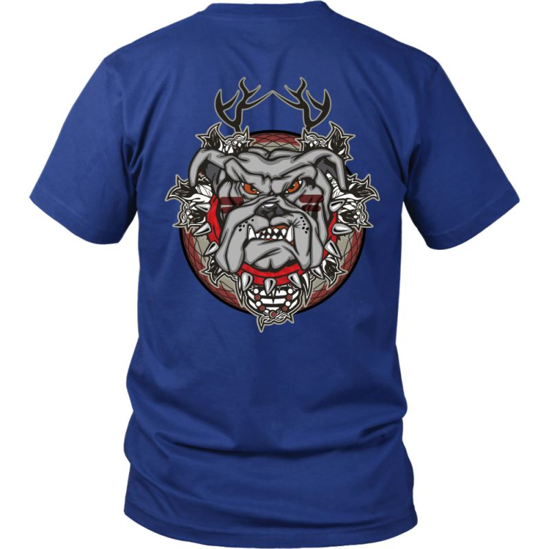 Bull Dog T-Shirt J1 District Unisex Shirt / Royal Blue S T-Shirts