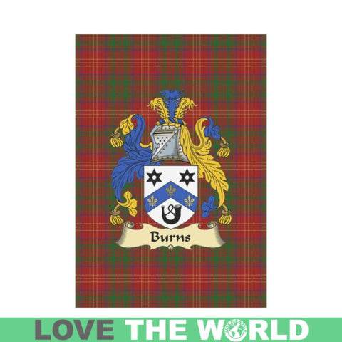 Burn Modern Tartan Clan Badge Garden Flag W7 |Home Decor| 1sttheworld