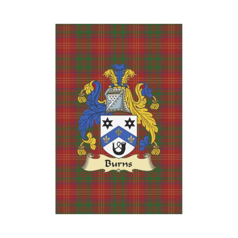 Image of Burn Modern Tartan Clan Badge Garden Flag W7 |Home Decor| 1sttheworld