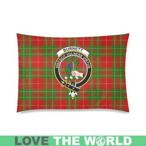 Burnett Ancient Tartan Clan Badge Rectangle Pillow Hj4 One Size / Burnett Ancient Custom Zippered