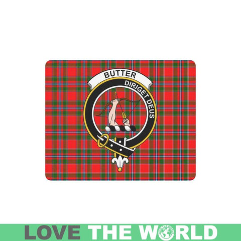 Image of Butter Clan Badge Mousepad - Ht1 One Size / Butter Heart-Shaped Mousepad Mousepads