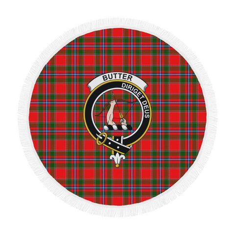 Image of Butter Clan Badge Tartan Circular Shawl C11 Shawls